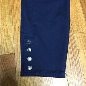 Stitch Star Pants - Stitch Star 16 Skinny Pants Navy Ankle Stretch